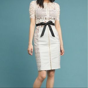Byron Lars Carissima Sheath Dress Ivory